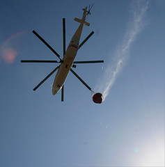 Crete, Greece (pom'.) Tags: canoneos400ddigital july 2010 rethymno ρέθυμνο rethymnon crete greece mediterraneansea sea helicopter firefighters firemen europeanunion helo chopper 100 200 5000