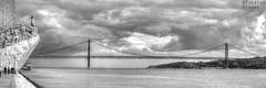 PadraoDosDescobrimentos013.JPG (Torsten Krüger Photography) Tags: lissabon lisboa lisboneurope portugal belem padraodosdescobrimentos brückeponte25deabril river tagus tajo tejo bw blackandwhite bridge monument