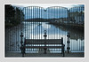 FENCE AND BENCH (Barry Haines) Tags: truro cornwall 50mm mitakon f095 sony a7r2 a7rii river mud estuary tidal flickrsbest city building sky people water bench fence