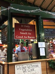 christmas borough market (lifeasexperienced) Tags: boroughmarket borough market vegetables bacon sign christmas london england christmastime december