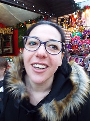 Such a laugh... Nina at the Christmas Market in Belfast December 2017 (sean and nina) Tags: nina christmas market belfast city centre public candid street photography woman female girl lady girlfriend fiancee wife happy amiling marries black duffle coat dress legs dm boots doc martens beauty gorgeous stunning amazing cute charm charming serb north northern ireland irish eu europe european aire glasses brunette long dark hair camer people persons outdoor outside model perfect december 2017 eating drinking smiling walking incredible pose posed posing unposed
