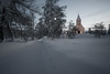 Norwegian nature (steffos1986) Tags: snow winter ice froen frost norway norge norwegen noruega church landscape nature sunset light shadows town city explore manualfocus nikkor 28mm ai nikkor28ai nikond800 building tree sky sun road night