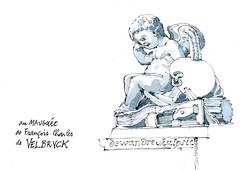 Cathédrale de Liège, au mausolée de François-Charles de Velbruck. (gerard michel) Tags: belgium liège cathédrale trésor mausolée sketch croquis