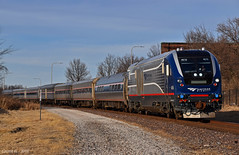 "Eastbound Passenger Train in Independence, MO (""Righteous"" Grant G.) Tags: amtrak train trains passenger locomotive siemens charger east eastbound midwest coach engine missouri up union pacific"
