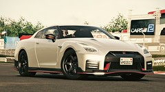 That Flashy Little Thing (polyneutron) Tags: photography nissan gtr white silver supercar projectcars pcars pc automotive autumn hdr dof
