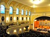 The Great Hall of Moscow Conservatory, Russia May 2010 (leonyaakov) Tags: moscow russia concert hall public opera music capitalcity culture art history performance travel yellow москва россия worldtrekker anticando