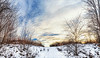 8R9A0678-80Ptzl1scTBbLGERM2 (ultravivid imaging) Tags: ultravividimaging ultra vivid imaging ultravivid colorful canon canon5dm3 clouds scenic sunsetclouds sky winter snow path sunset pennsylvania pa rural panoramic farm fields