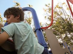 IMG_5200 (classroomcamera) Tags: school campus playground sit rest turn evening tree slide portrait