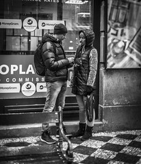 On a budget (Henka69) Tags: streetphotography candid prague praha monochrome city people