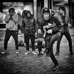 PUMA (Mister Oy) Tags: davegreen oyphotos ©oyphotos puma dance streetphotography mono monochrome blackandwhite birmingham england performers rap beatbox expression people