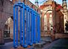 - the blue snake II - (-wendenlook-) Tags: color colors art kunst urban rohre tubes blau blue klosterkircheruine alexanderplatz berlin sony a7ii alpha7ii 3528 35mm 180 f56 iso100 zeiss