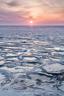 Sunrise above the ice