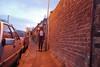 Sun Down (Bryony Harper) Tags: night sunset urban lowlight distortion landscape city photography disturbing scary orange people