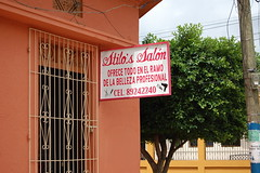 Stilo's Salon (Midnight Believer) Tags: rivasnicaragua stilossalon hairstyle beautyshop hairstylist sign signage centralamerica latinamerica spanish