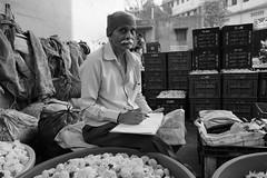 Are you clicking my photos? (Rahul Gaywala) Tags: monochrome people candid street fujifilm xt2 surat vibrant diamond city flower market flowermarket