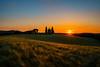 Cappella della Madonna di Vitaleta (Olmux82) Tags: toscana tuscany cappella madonna vitaleta church chiesa sunset sun ray nikon d750 italia italy landscape paesaggio