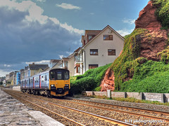 Class 150 DMU, Dawlish, Devon