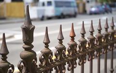 Fence bokeh (Kiwi Jono) Tags: fence iron christchurch newzealand outdoor