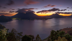 A magic place (neritron) Tags: blue hour atitlan lake water lago agua hora azul dorada volcan volcano vulcano volcanoe landscape landscapes sunset yellow paisaje guatemala nikon lee filter d750