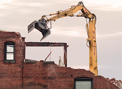 Entropy, As I Understand It (Chancy Rendezvous) Tags: entropy demolition building construction disintegration disintegrate demolish wreck wrecked jaw claw equiptment