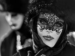 It's Carnival! (marypink) Tags: carnevaledivenezia venice mask blackwhite bn eyes sguardo portrait nikond800 nikkor70200f28