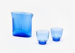 RidgeKitchen-set-cobalt-silo-VRK (Charles & Marie) Tags: glasses areaware glassware ridgekitchen carafe visibility pitcher