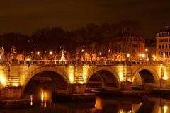 Ponte Sant'Angelo, Rome (mmalinov116) Tags: santangelo ponte bridge мост pons tiber river water light reflection italy roma rome roman тибър рим италия река history historical old oldest architecture art europe eu night