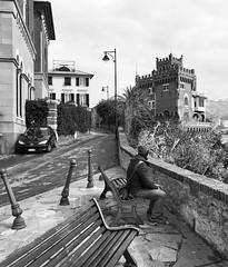"""Boccadasse"" (giannipaoloziliani) Tags: monochrome monocromatico lightandshadow liguria italy italia genova genoa boccadasse biancoenero blackandwhite nikoncamera nikon nikonphotography"