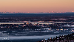 Anchorage (fentonphotography) Tags: alaska flattop hdr sunset anchorage unitedstates us mountains landscape alpenglow fog