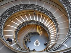 Spiralling down. (UrbaceousSentiment) Tags: vatikanischemuseen vaticanmuseums treppe stairs spiral spirale wendeltreppe rom rome roma italien italy italia digital panasonic lumix dmcgm5