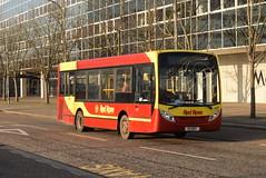 RRT 50504 @ Milton Keynes Central train station (ianjpoole) Tags: red rose travel alexander dennis enviro 200 e9rrt 50504 working route 25 milton keynes central station bletchley bus
