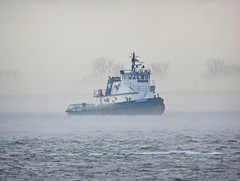 Fog on the harbor (Goggla) Tags: nyc new york harbor weather fog cloud boat