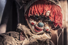 Shall I make you laugh or shall I make you run?? (Marco Bontenbal (Pixanpictures.com)) Tags: urbex urban exploring lost world abandoned decay decayed photography mexico clown old beautiful natural light naturallight nikon d750 tamron 70200 scary horror hidden forgotten mysterious ue urbanexploring pixanpictures doll