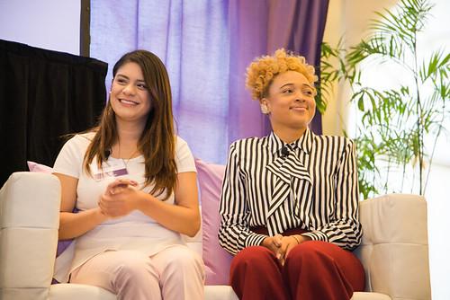 Nancy Orocio, left