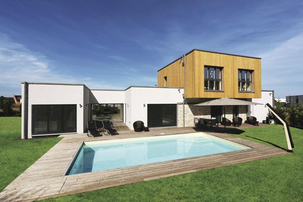 The world 39 s best photos of fertighaus flickr hive mind for Haus modern flachdach