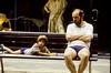 Tågluff, Budapest 1987 (Anders Österberg) Tags: father son parkbänk tågluff budapest boy pojke far pappa analog analogt 1987 looking tittar ektachrome 100
