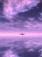 """(""""What's in the box?!"""") Tags: photoshop photography photographer sky clouds manipulation plane airplane sunset sunsets sun cloud silhouette trippy canon dslr digital potd horizon surrel abstract photograph photo nature landscape"""