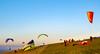 Devils Dyke Paragliders in golden light #1 (Dennis in Shoreham-by-Sea ( LRPS )) Tags: hanggliders devilsdyke