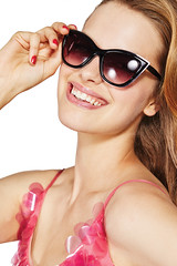 RM1706_11484 Smile Pop (nuskinamericas) Tags: smilepop ap24 lipgloss visor stripes tanktop sunglasses blue pink dress sparkly bracelet