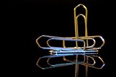 Paperclips instead of towels! (Gerald Lang) Tags: sonyalpha7ii sonya7ii spiegelung sonyilce7m2 reflection réflexion makro macro macromondays tamronaf90mm128macro11 fasteners büroklammer paperclip trombones