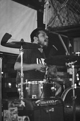Emergency EMCY (Jennyfer Bluered) Tags: emcy emergency band rock music musician canon photography 50mm xs black white blanco negro guitar drum musico singer cantante night lights stage escenario mexico mx