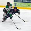Puck battle leads to penalty (R.A. Killmer) Tags: sru slippery rock university black green white mercyhurst acha stick puck rink