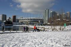 Winter White (Clayton Perry Photoworks) Tags: vancouver bc canada winter sunshine explorebc explorecanada snow skyline bcplace