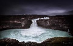Alderjayfoss (dochema2000) Tags: ifttt 500px waterfall cliffs clouds summer iceland scenic blue