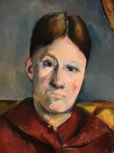 CEZANNE,1888-90 - Madame Cézanne au Fauteuil jaune (3) (New York) - Detail 13