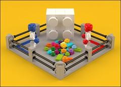 Builders' Battle (_spacehopper_) Tags: lego render ldd blender boxer bricks moc minifigure