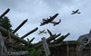 Battle of Britain (Swirly_Magnolia) Tags: spitfire hurricane lancaster bomber ww2 world war two 2 battle britain fly by planes airplane fighter plane uk england heros hero ruins bomb destruction victory europe swirly magnolia swirlymagnolia blind photographer