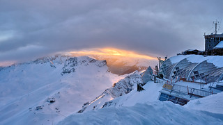 Sunset at Zugspitze
