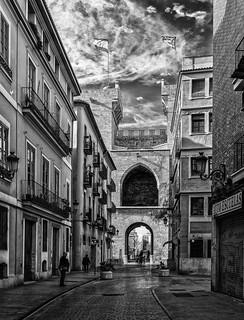 Torres de Quart (Medieval City Gate - Wall) (BW) Valencia (Fujifilm X100F 23mm f2 Compact)