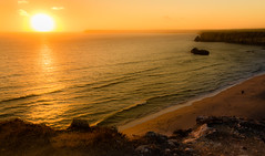 Let's Call it a Day! (amcatena) Tags: sky landscape sea sunset beach sun light ocean seaside praia sol playa spiaggia portugal